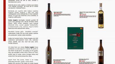 La Guía Peñín premia los Txakolis Gorka Izagirre