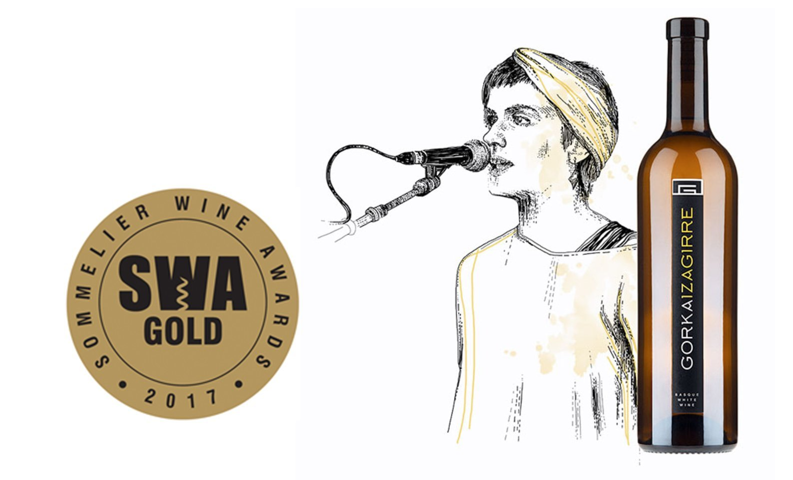 Gorka Izagirre white wine wins a golden medal at the 2017 Sommelier Wine Awards