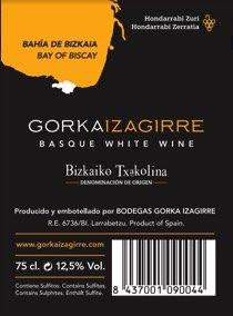 Contraetiqueta Gorka Izagirre | Nueva contraetiqueta del vino Gorka Izagirre 2017