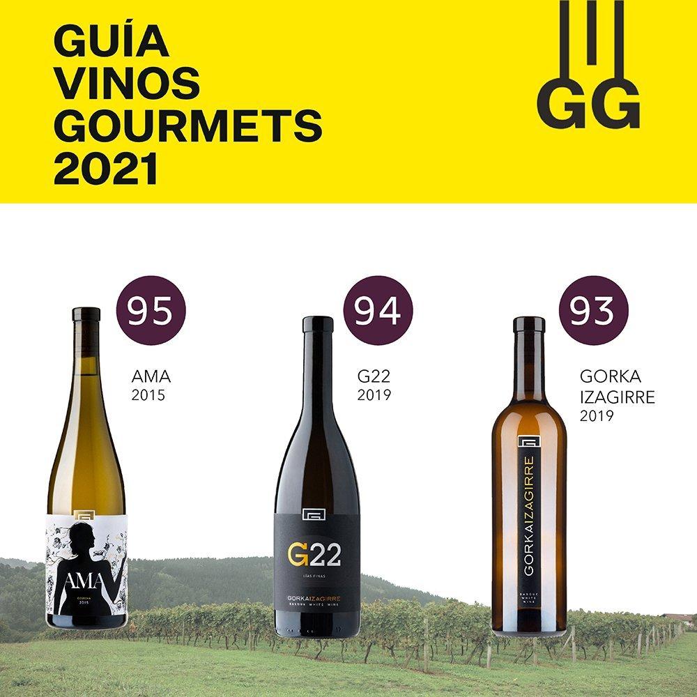 AMA, G22 y Gorka Izagirre: los txakolis mejor puntuados de la Guía Vinos Gourmets 2021